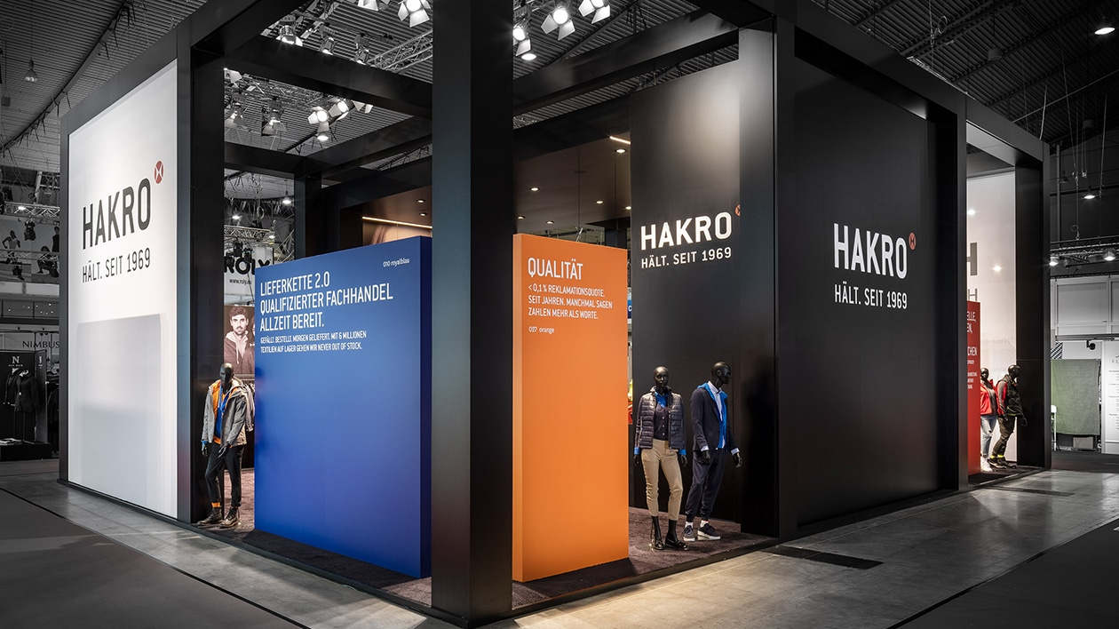 Hakro booth in the exterior view