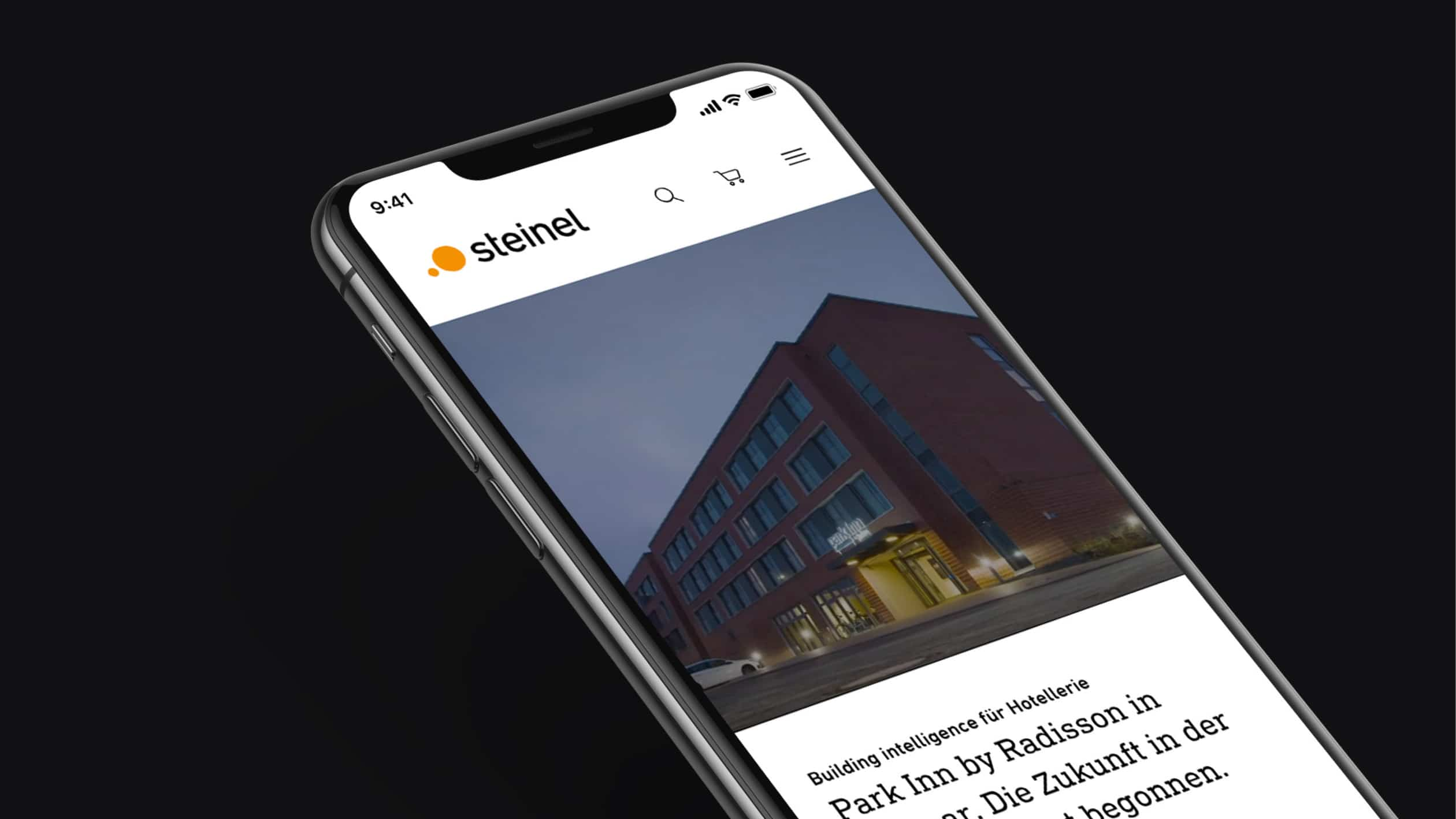 Steinel Website Relaunch Mockup